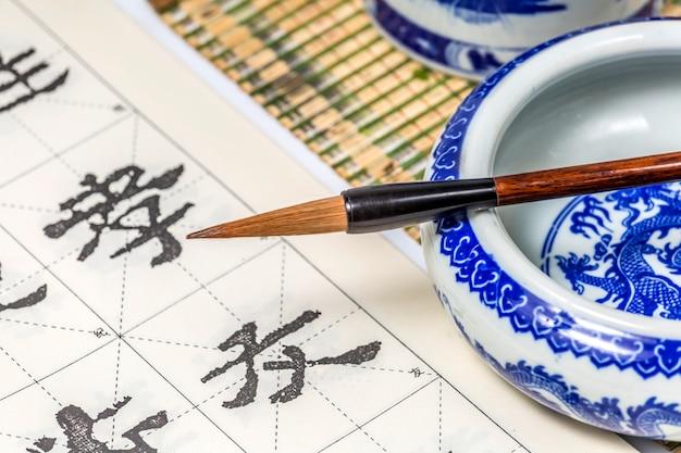 Schetsende kunstcultuurpapier japanse pen