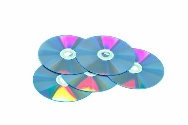 Schijf dvd-cd op wit
