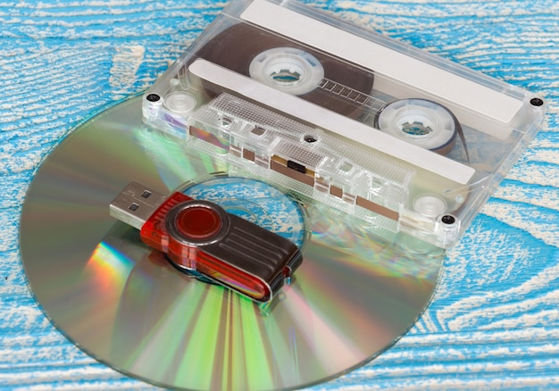 Schijf-, tape- en flashstation