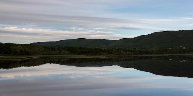 Schilderachtig uitzicht op cheticamp, cabot trail, cape breton island, nova scotia, canada