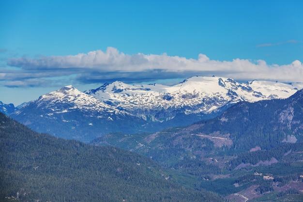 Schilderachtig uitzicht op de bergen in de canadese rockies in het zomerseizoen