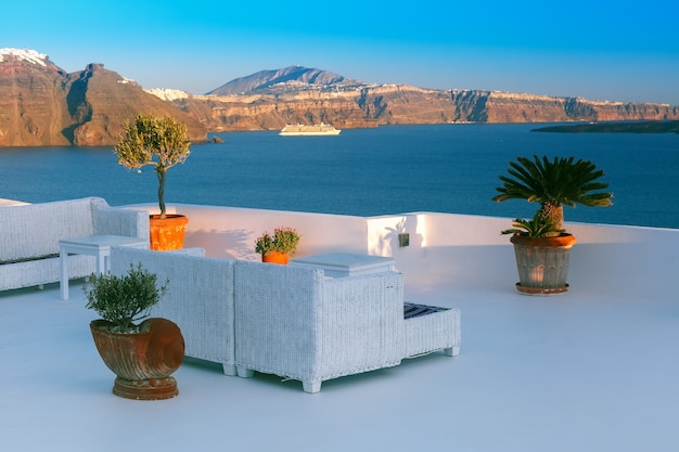 Schilderachtig uitzicht van oia, santorini, griekenland