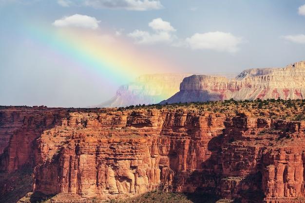 Schilderachtige landschappen van de grand canyon, arizona, verenigde staten.