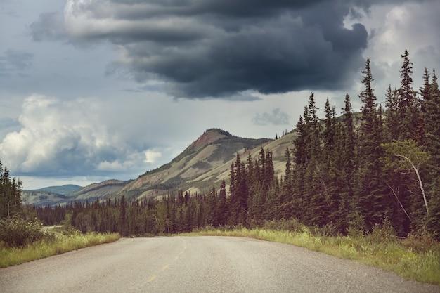 Schilderachtige snelweg in alaska, vs.