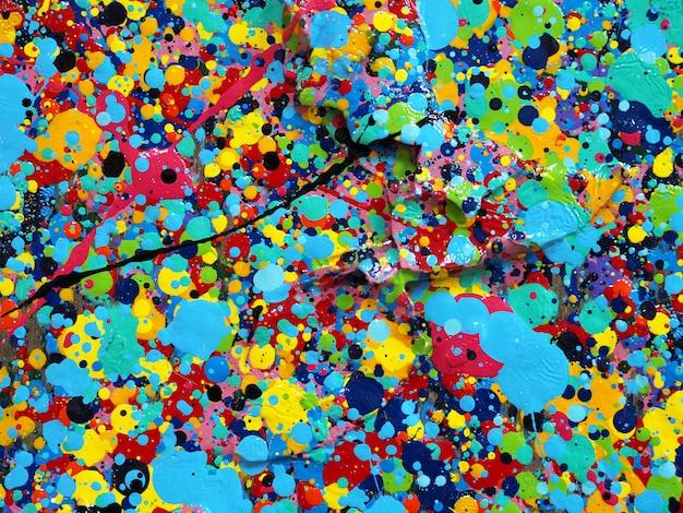 Schilderij kleurrijke textuur. abstracte achtergrond heldere kleuren artistieke plonsen.