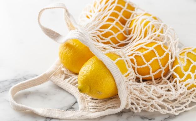 Schildpadzak met citroenen