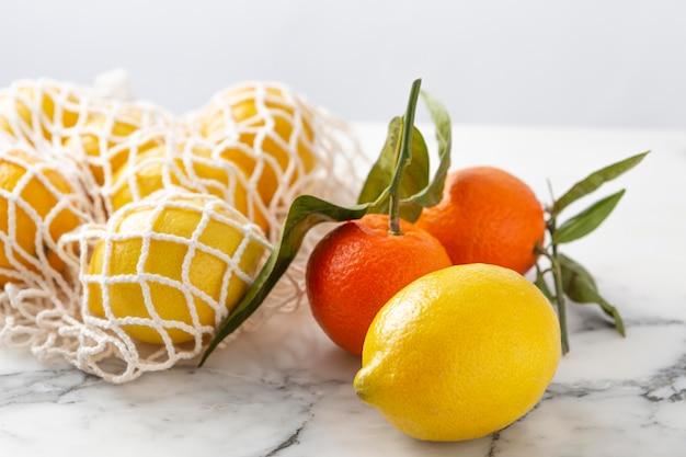 Schildpadzak met fruit