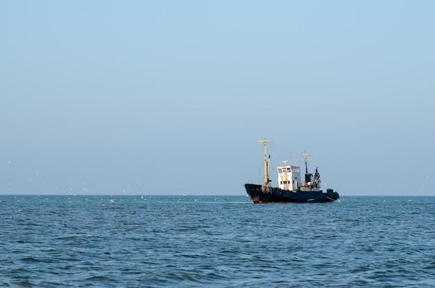 Schip op zee.