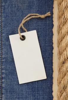 Schipkabels op jeans achtergrondstructuur