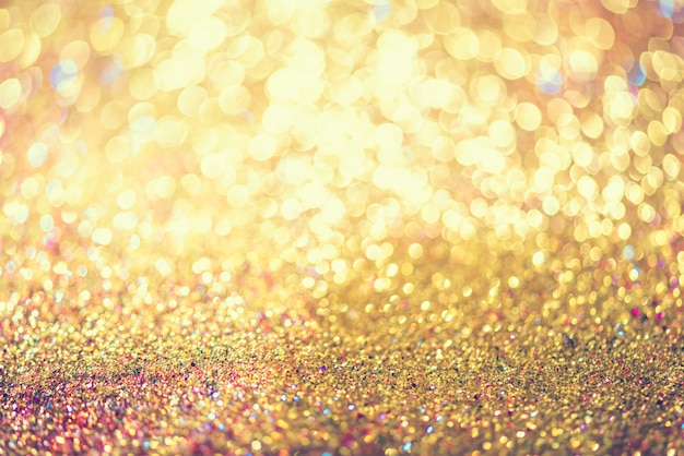 Schitter goud bokeh colorfull vage abstracte achtergrond voor verjaardag