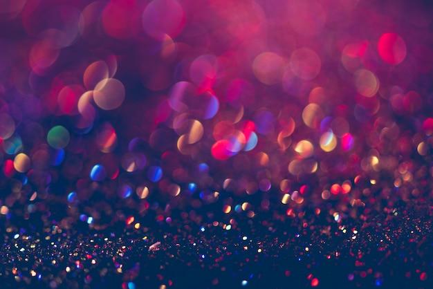 Schitter gouden bokeh kleurrijke vage abstracte achtergrond voor verjaardag