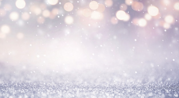 Schitter uitstekende lichten abstracte achtergrond nieuwe jaarvakantie. blauw en goud, kopie ruimte.
