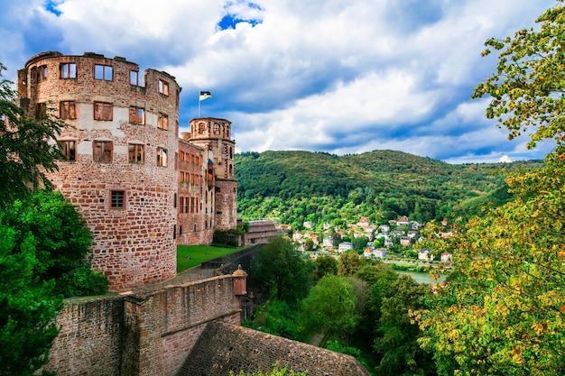 Schloss heidelberg, middeleeuws kasteel in duitsland, populaire toeristische attractie