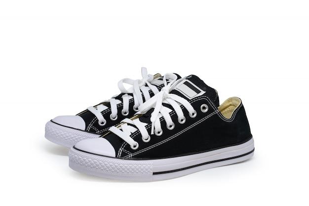 Schoen op wit wordt geïsoleerd dat.