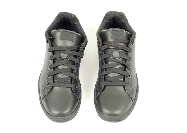 Schoenen geïsoleerd op wit. bovenaanzicht