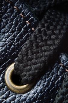 Schoenveters op schoenen close-up