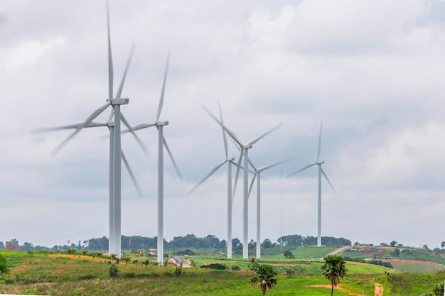 Schone energie met windturbine