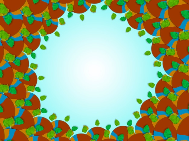 Schone planeet aarde achtergrond, schone lucht concept