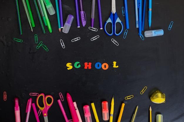 School en kantoorbenodigdheden frame