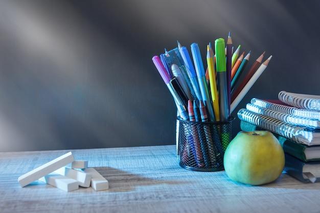 School thema. terug naar school-concept. begin van het onderwijs.