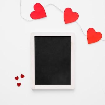 Schoolbord dichtbij hartslinger