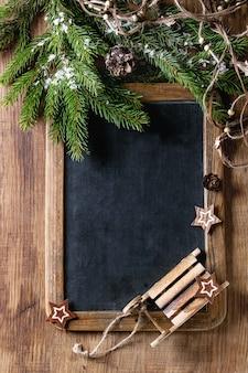 Schoolbord en kerstboom