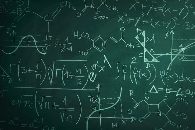 Schoolbord en wiskunde
