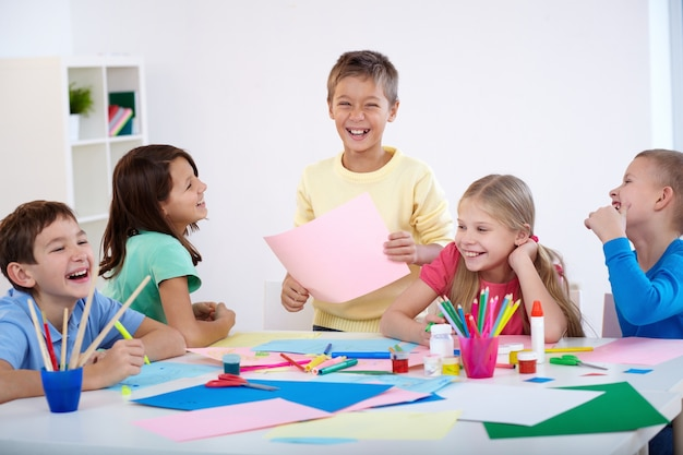 Schoolkinderen plezier