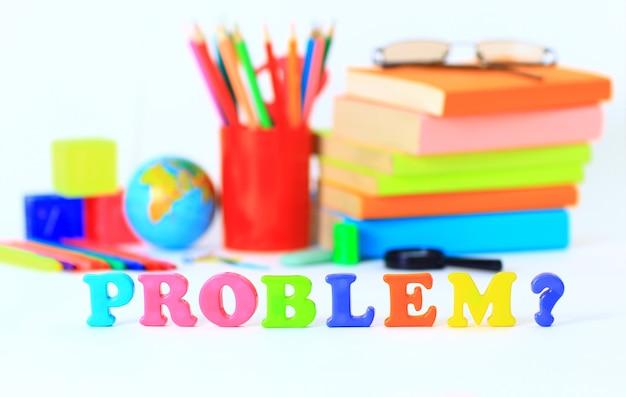 Schoolspullen. het belangrijkste woord.