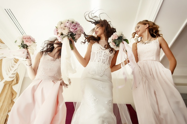 Schoonheid bruid vrouwelijke glorie helder
