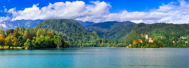 Schoonheid in de natuur prachtig meer van bled in slovenië