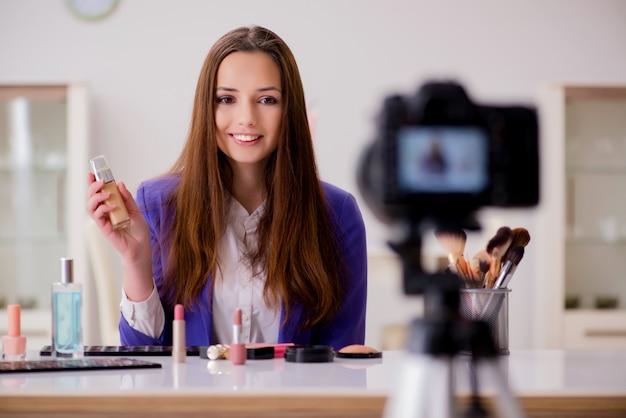 Schoonheid mode blogger video opnemen
