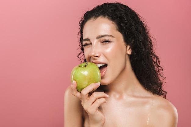 Schoonheid portret van een mooie jonge topless vrouw