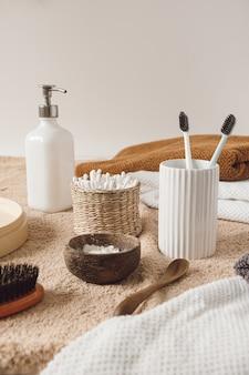 Schoonheid, producten voor de ochtendroutine in de gezondheidszorg