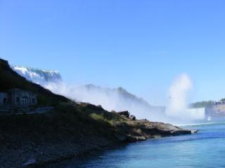 Schoonheid van de niagara falls, haasten, vervagen
