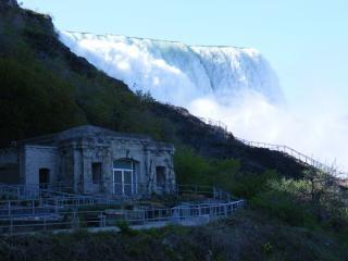 Schoonheid van de niagara falls, landschap