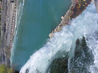 Schoonheid van de niagara falls, natuurlijke