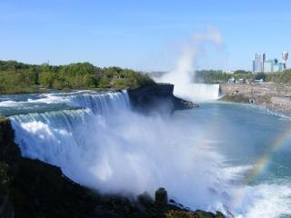 Schoonheid van de niagara falls, steen, landschap