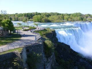 Schoonheid van de niagara falls, veren