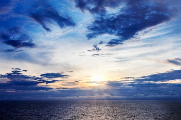 Schoonheid zonsondergang