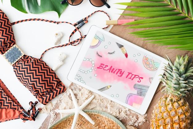 Schoonheidstips make-up accessoires concept