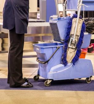 Schoonmaak op de luchthaven