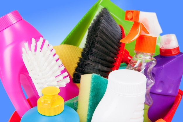 Schoonmaakproducten huishoudelijke chemie wasmiddel