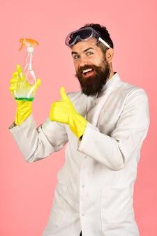 Schoonmaakproducten schoonmaakservice baardreiniger teken goed
