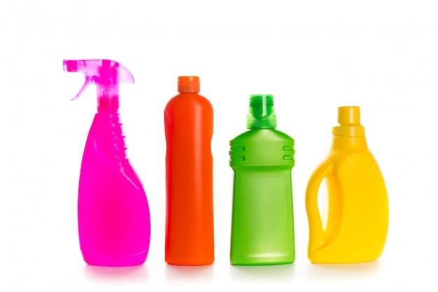 Schoonmakende product plastic container voor huis schoon