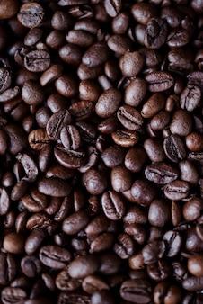 Schot van koffieboon bij studio-opname