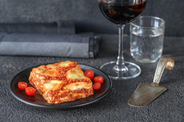 Schotel van lasagne