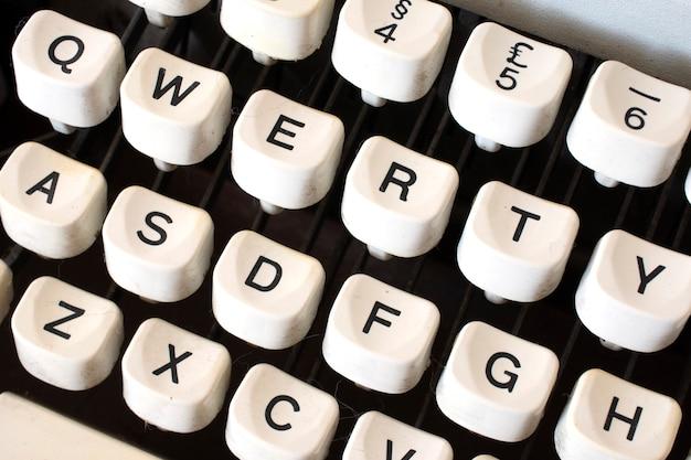 Schrijfmachine toetsen