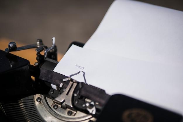 Schrijfmachine.