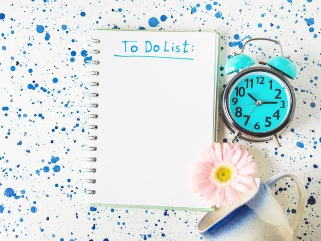 Schrijven om lijst in het ochtendconcept te doen